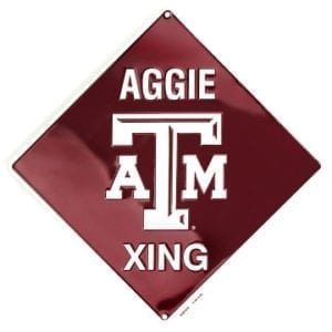 Texas A&M Aggies Merchandise - Crossing Sign
