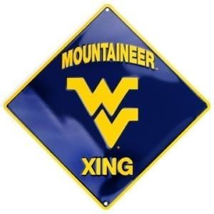 West Virginia Mountaineers Merchandise - Crossing Sign