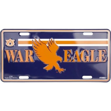 Auburn Tigers Merchandise - License Plate