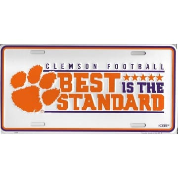 Clemson Tigers Merchandise - License Plate