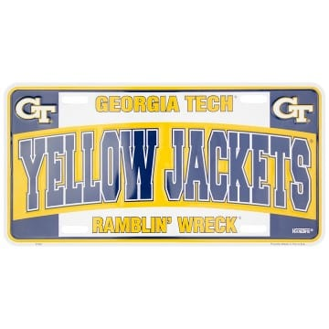 Georgia Tech Merchandise - License Plate