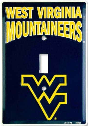 West Virginia Mountaineers Merchandise - Light Switch Cover