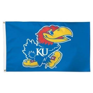 Kansas Jayhawks Merchandise 3x5 Deluxe Flag