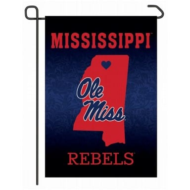 Ole Miss Rebels Home State Garden Flag