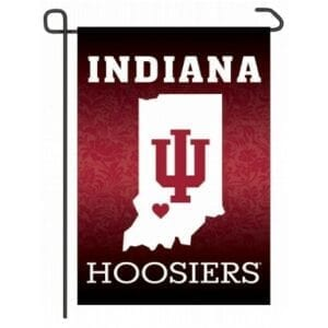Indiana Hoosiers Home State Garden Flag