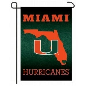 Miami Hurricanes Home State Garden Flag